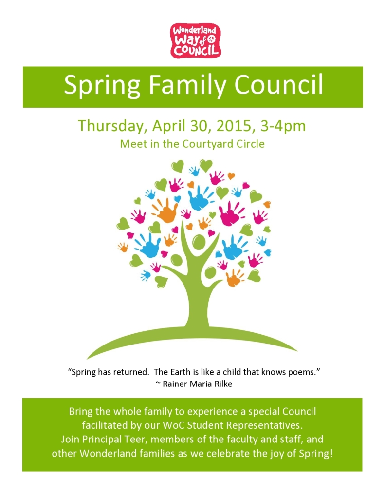 Spring Family Council Flyer