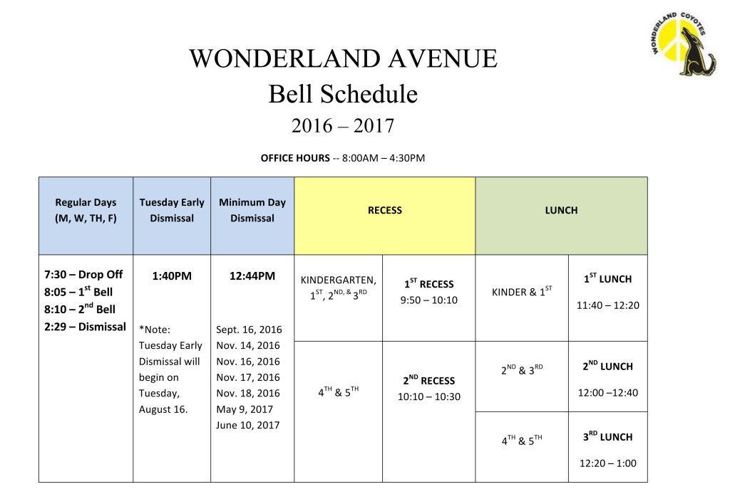 Microsoft Word - Bell Schedule 2016-2017 copy.docx