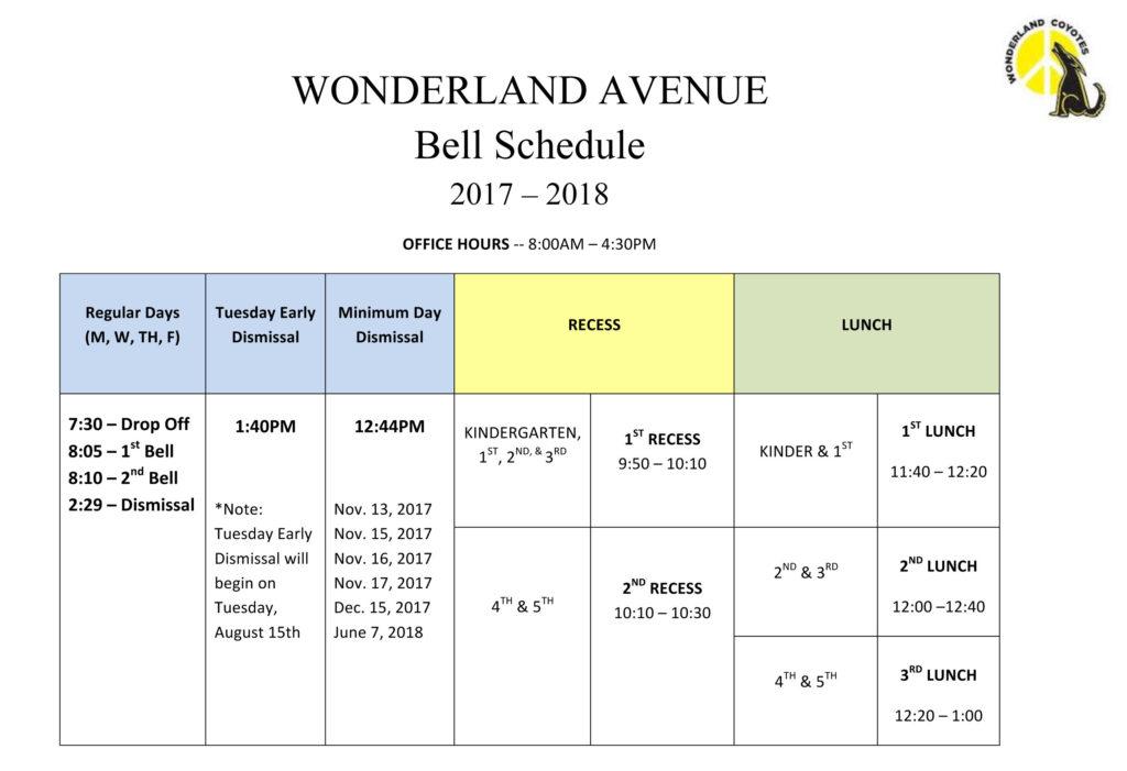 Microsoft Word - Bell Schedule 2017-2018.docx