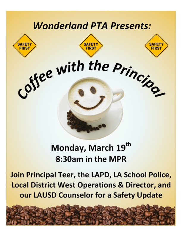 Coffee with Principal March 2018