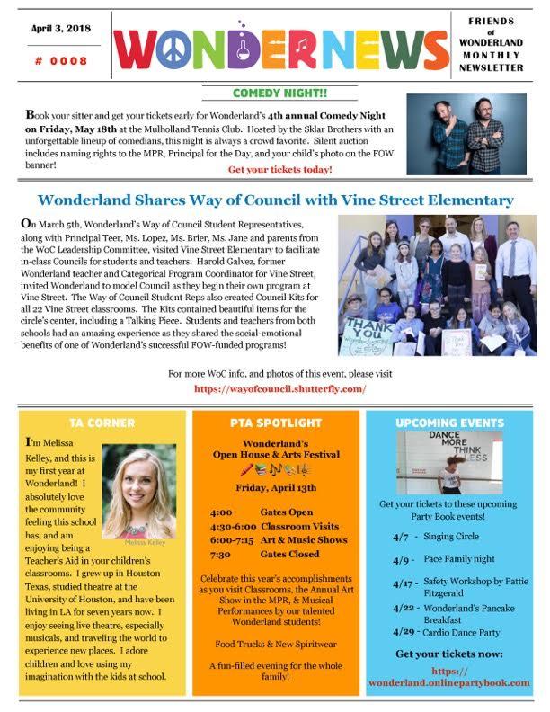 April '18 Newsletter