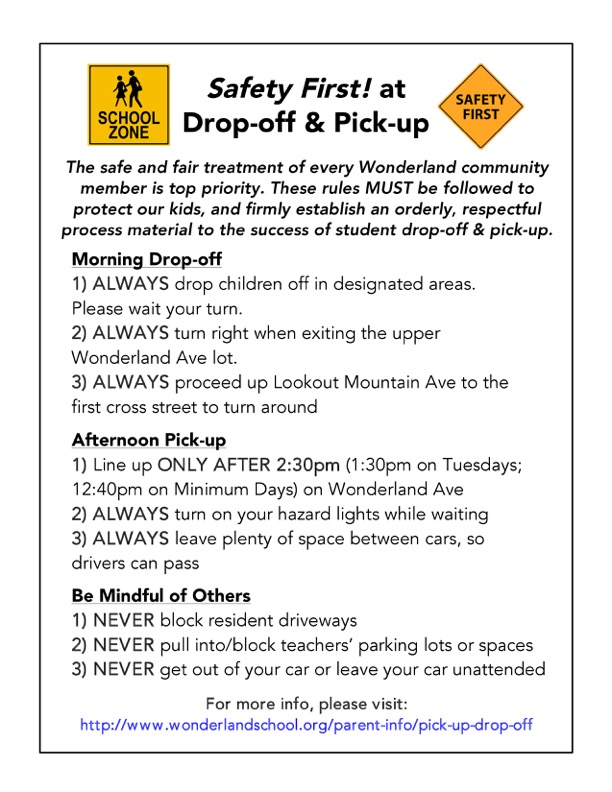 Pickup Dropoff Guidelines